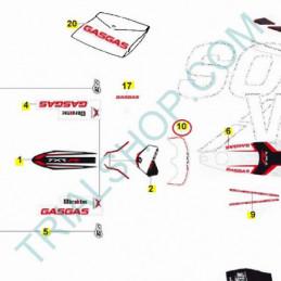 Adesivo mascherina Gas Gas Txt Racing 2014