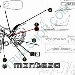 Adesivo protezione SX parafango posteriore Montesa Cota 315 '03