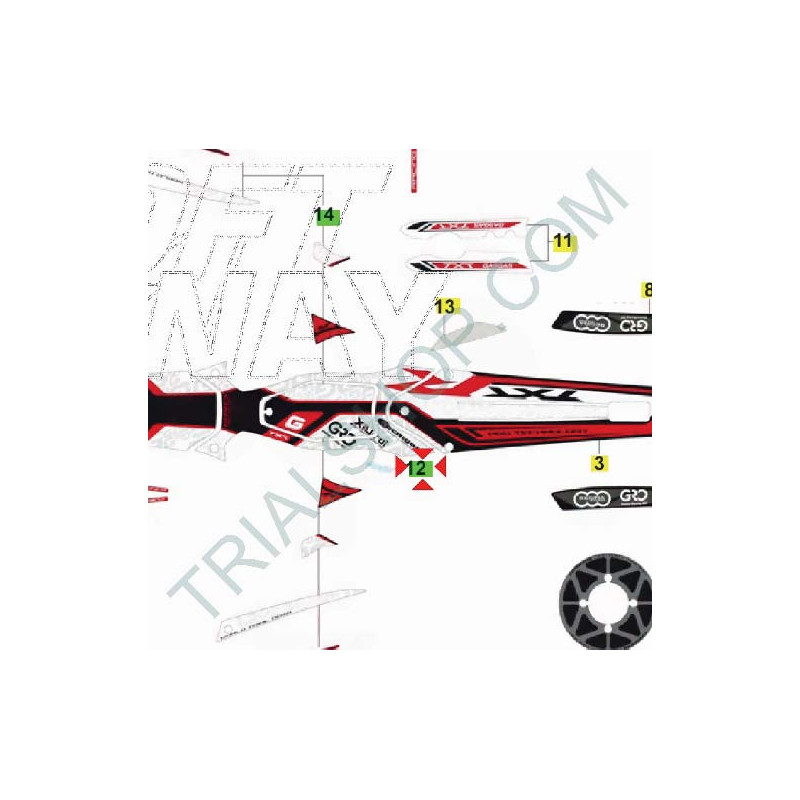 Adesivo cilindrata 300cc Gas Gas Txt Factory 2014