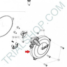 Coperchio volano nero Beta Evo 2T '17-'18
