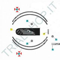 Adesivi cerchio Montesa Cota 4RT, 4RT Racing 2014